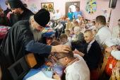 Блаженнейший митрополит Онуфрий совершил Литургию в Банченском монастыре и посетил детские дома, опекаемые обителью