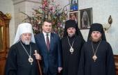 Президент Латвии поздравил митрополита Рижского Александра с Рождеством Христовым