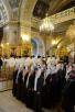 Панихида по Патриарху Сергию (Страгородскому) в Богоявленском соборе г. Москвы