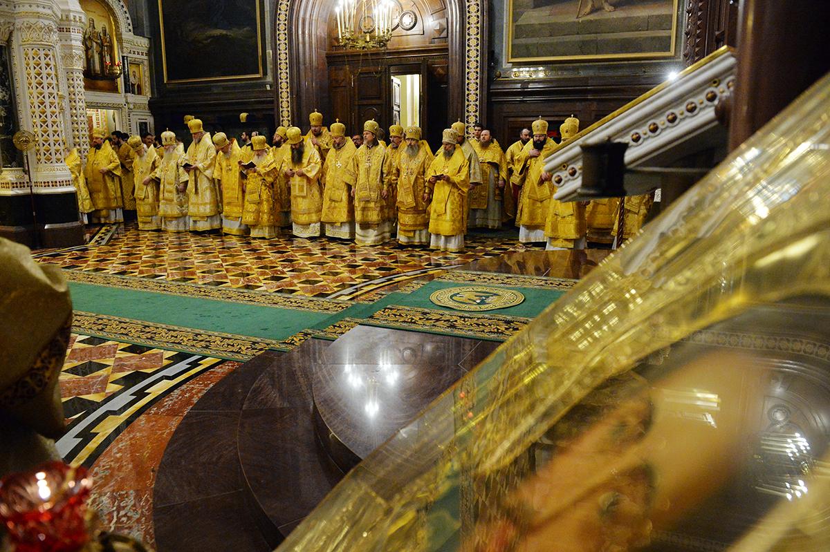 Патриаршее служение в восьмую годовщину интронизации в Храме Христа Спасителя