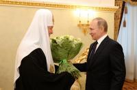 Президент России В.В. Путин поздравил Святейшего Патриарха Кирилла с годовщиной интронизации