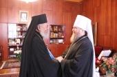 Представитель Патриарха Антиохийского при Патриархе Московском и всея Руси награжден орденом Казахстанского митрополичьего округа