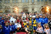 Святейший Патриарх Кирилл открыл финальный этап VII турнира по русскому хоккею на Красной площади