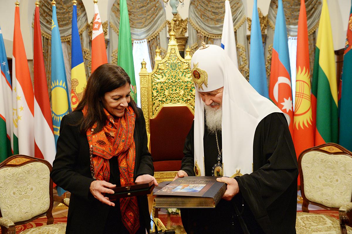 Встреча Святейшего Патриарха Кирилла с мэром Парижа Анн Идальго