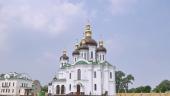 Блаженнейший митрополит Онуфрий совершил освящение храма и Литургию в скиту Киево-Печерской лавры в Голосеевском районе Киева