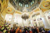 В Неделю о Страшном Суде архиереи Казахстанского митрополичьего округа совершили Литургию в Вознесенском кафедральном соборе Алма-Аты