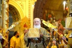 В Неделю мясопустную Святейший Патриарх Кирилл совершил Литургию в Храме Христа Спасителя в Москве