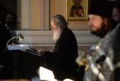 В четверг первой седмицы Великого поста Святейший Патриарх Кирилл молился за уставным богослужением в Иоанно-Предтеченском ставропигиальном монастыре