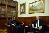 Митрополит Волоколамский Иларион встретился с новоназначенным послом Израиля в России