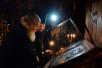 Патриаршее служение в четверг первой седмицы Великого поста. Повечерие с чтением Великого канона прп. Андрея Критского в Высоко-Петровском ставропигиальном монастыре