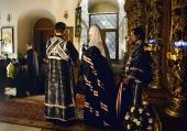 Проповедь Святейшего Патриарха Кирилла после великого повечерия в четверг первой седмицы Великого поста в Высоко-Петровском ставропигиальном монастыре