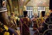 В пятницу первой седмицы Великого поста Святейший Патриарх Кирилл совершил богослужение в Богородице-Рождественском ставропигиальном монастыре