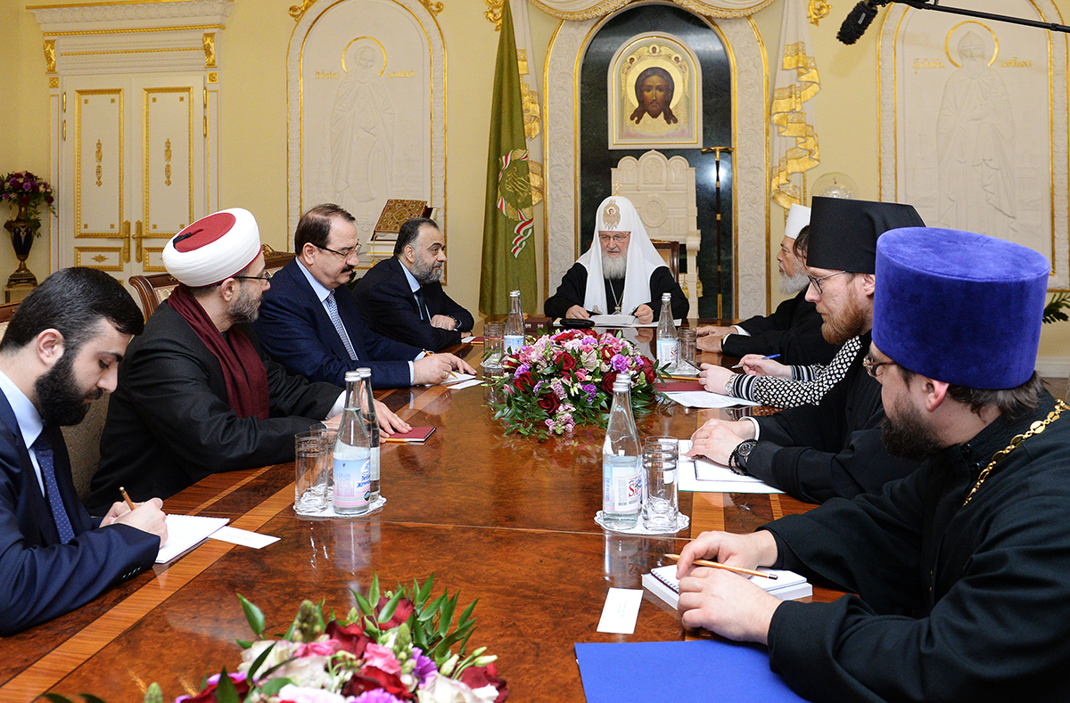 Встреча Святейшего Патриарха Кирилла с министром вакуфов Сирии
