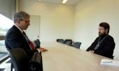 Митрополит Волоколамский Иларион провел рабочую встречу с генеральным секретарем Всемирного совета церквей