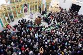 В Неделю 2-ю Великого поста Святейший Патриарх Кирилл освятил храм Всех святых, в земле Русской просиявших, в Черемушках г. Москвы