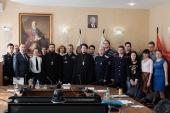 Синодальный комитет по взаимодействию с казачеством провел видеоконференцию с духовниками региональных институтов Первого казачьего университета