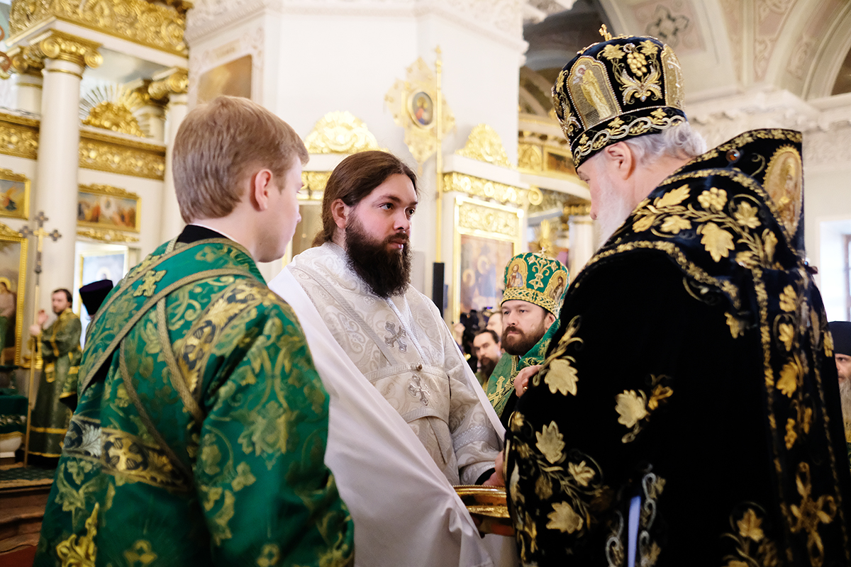 Патриаршее служение в день памяти св. блгв. кн. Даниила Московского в Даниловом ставропигиальном монастыре