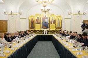 Святейший Патриарх Кирилл возглавил заседание Президиума Общества русской словесности