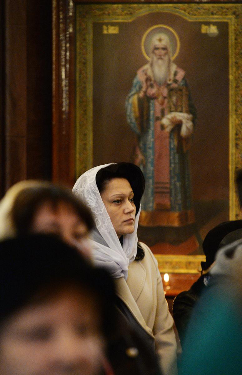 Патриаршее служение в канун Крестопоклонной Недели в Храме Христа Спасителя