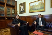 Митрополит Волоколамский Иларион встретился с послом Швейцарии в России