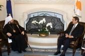 Состоялась встреча митрополита Волоколамского Илариона с Президентом Кипра Н. Анастасиадисом