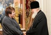 Святейший Патриарх Кирилл встретился с руководителем Россотрудничества Л.Н. Глебовой