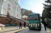 В Святогорскую лавру прибыл 11-й гуманитарный рейд из Винницы