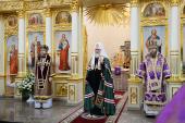 Слово Святейшего Патриарха Кирилла в Неделю 5-ю Великого поста после Литургии в храме святого праведного Иоанна Русского в Фили-Давыдкове в Москве