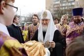 В Неделю 5-ю Великого поста Святейший Патриарх Кирилл освятил храм святого праведного Иоанна Русского в Фили-Давыдкове в Москве