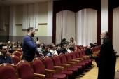 Протоиерей Александр Новопашин представил в Смоленском государственном университете фильм о деятельности сект «Рядом с нами»