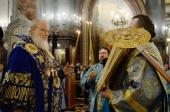 В канун праздника Благовещения Пресвятой Богородицы Святейший Патриарх Кирилл совершил всенощное бдение в Храме Христа Спасителя в Москве