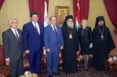 Предстоятель Антиохийской Православной Церкви встретился с делегацией Императорского православного палестинского общества