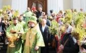 В праздник Входа Господня в Иерусалим Предстоятель Православной Церкви Молдовы совершил Литургию в соборе Рождества Христова в Кишиневе