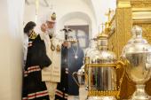Предстоятель Русской Церкви совершил молебен на начало чина мироварения