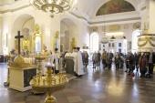 На девятый день после теракта в метрополитене в Спасо-Преображенском соборе Санкт-Петербурга совершено заупокойное богослужение