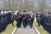 Глава Владикавказской епархии принял участие в захоронении останков воинов, погибших в годы Великой Отечественной войны при обороне Эльхотовских ворот