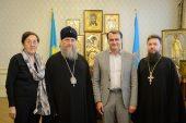 В духовно-культурном центре Казахстанского митрополичьего округа в Алма-Ате состоялась встреча главы Округа с генеральным консулом Франции