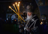 В Великий Вторник Святейший Патриарх Кирилл совершил Литургию в Новоспасском ставропигиальном монастыре