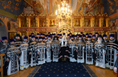 Проповедь Святейшего Патриарха Кирилла в Великий Вторник после Литургии в Новоспасском монастыре