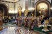 Патриаршее служение в Храме Христа Спасителя в Великий четверг. Божественная литургия, чин освящения мира и чин умовения ног