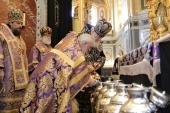 В Великий Четверток Святейший Патриарх Кирилл совершил Литургию и чин освящения мира в Храме Христа Спасителя в Москве