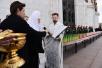 Патриаршее служение в Великую Субботу в Храме Христа Спасителя в Москве