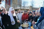 Традиционное посещение Святейшим Патриархом столичных храмов в Великую Субботу
