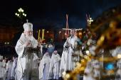 Патриаршее обращение к телезрителям перед началом Пасхального богослужения