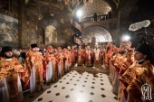 Блаженнейший митрополит Онуфрий совершил Пасхальные богослужения в Киево-Печерской лавре