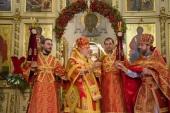 В праздник Светлого Христова Воскресения митрополит Рижский и всея Латвии Александр возглавил богослужение в кафедральном соборе Рождества Христова г. Риги