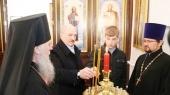 В праздник Пасхи Президент Республики Беларусь посетил храм Преображения Господня в городе Барань Витебской области