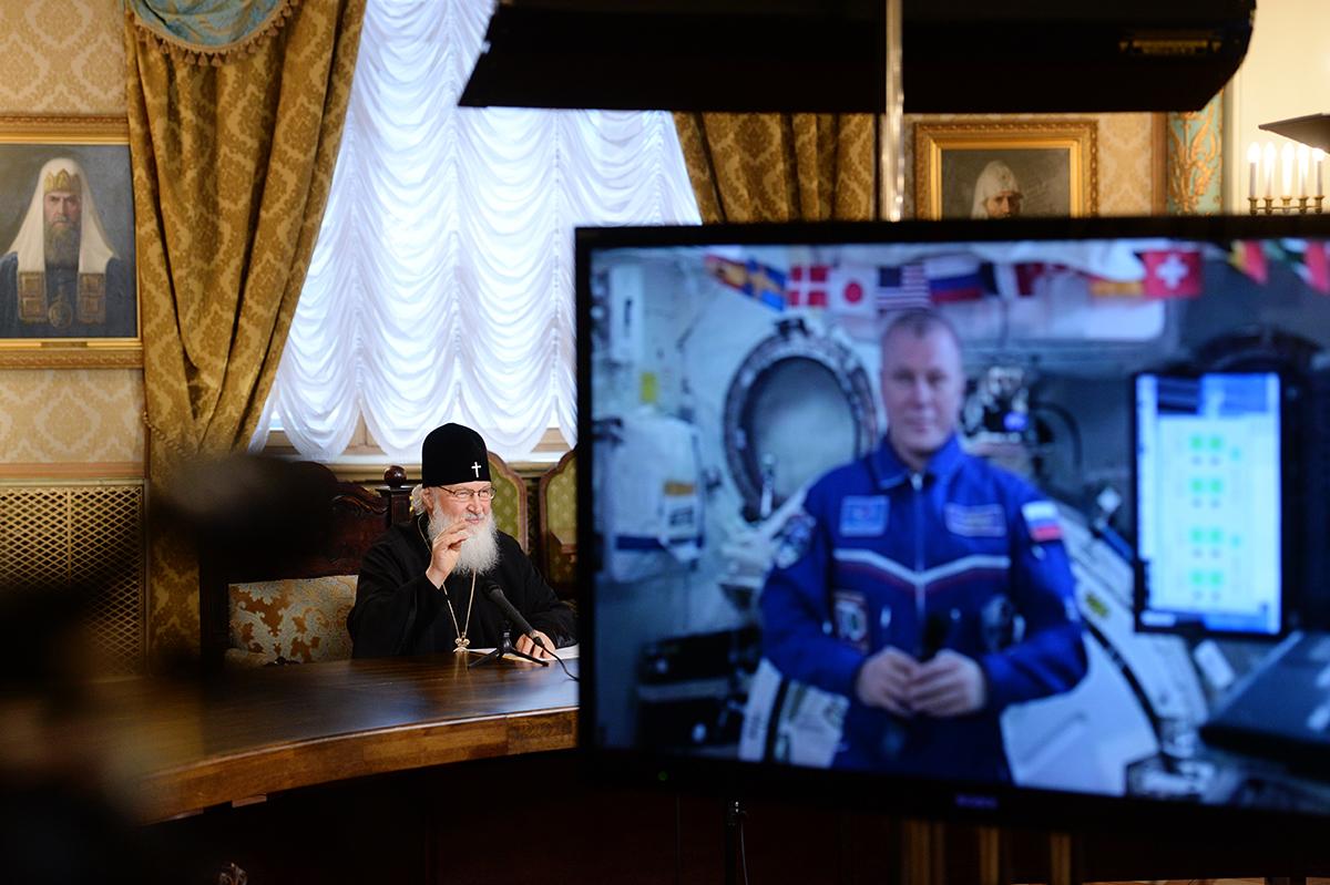 Телемост с экипажем Международной космической станции в праздник Пасхи