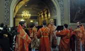 Митрополит Волоколамский Иларион совершил Божественную литургию в московском храме святителя Николая в Хамовниках