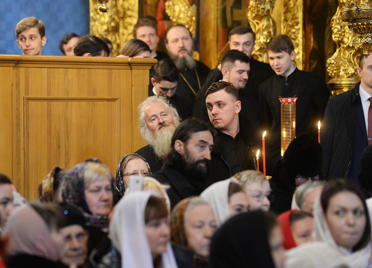 Патриаршее служение во вторник Светлой седмицы в Троице-Сергиевой лавре